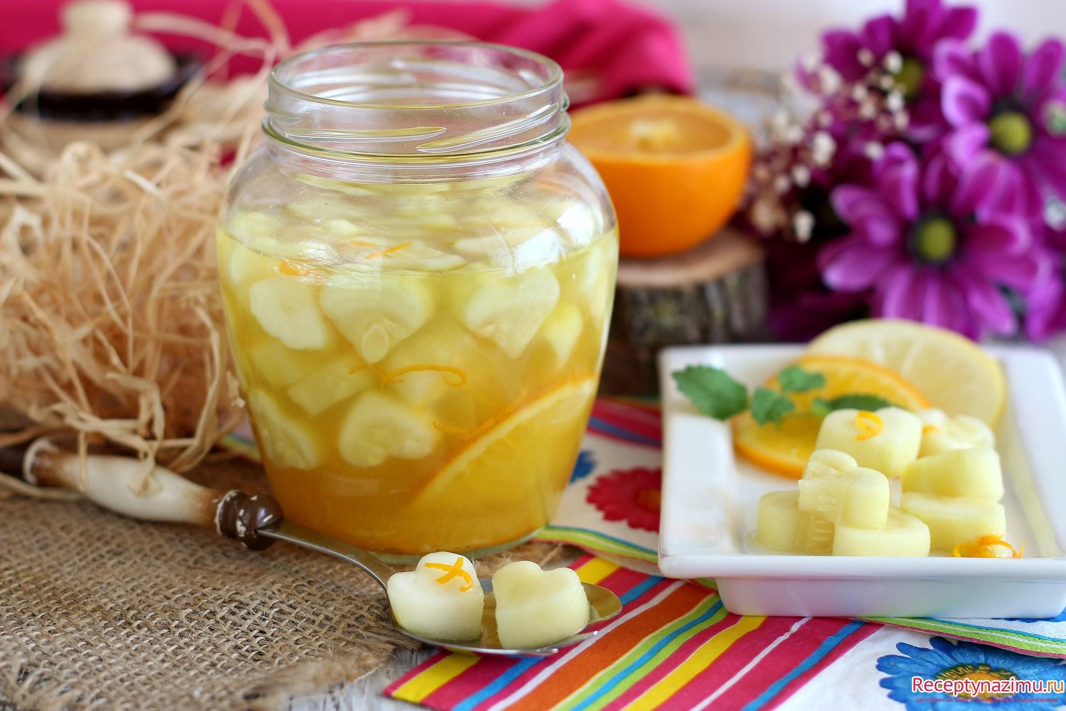 Как из кабачков сделать ананас 774