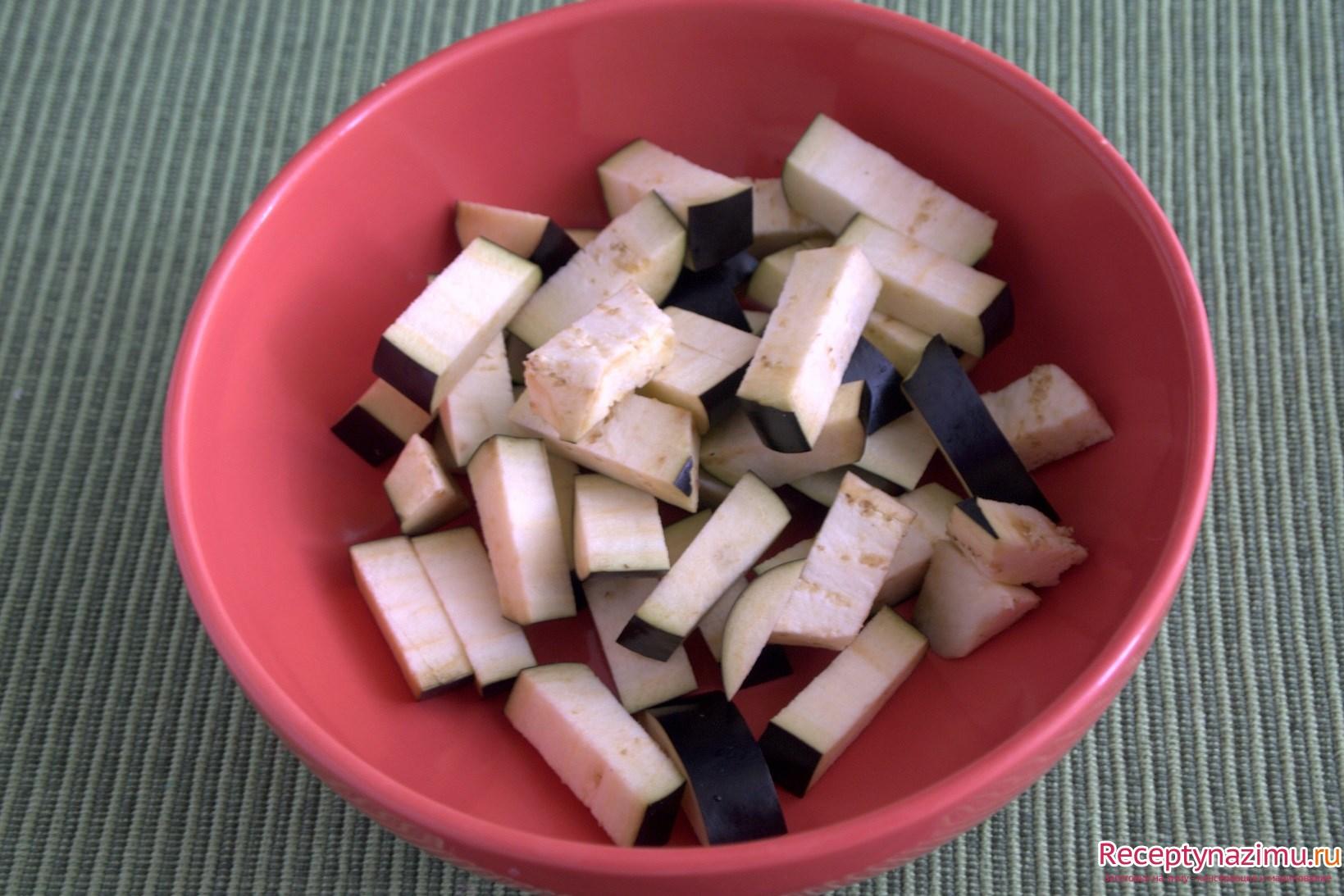 острый салат из баклажанов рецепт фото