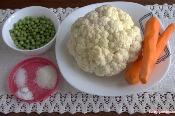 цветная капуста маринованная пошаговый рецепт с фото