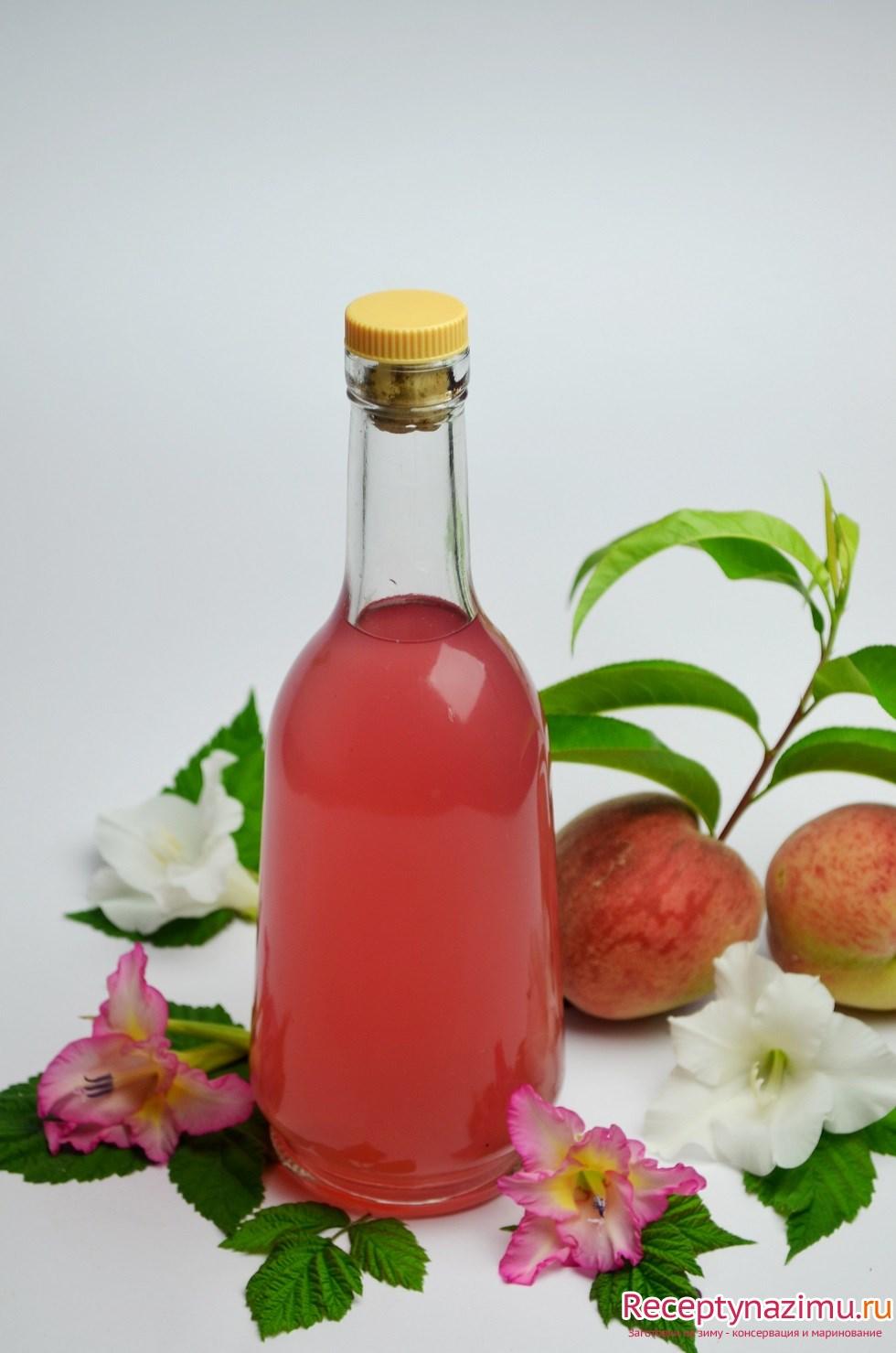 Персиковый ликёр в домашних условиях