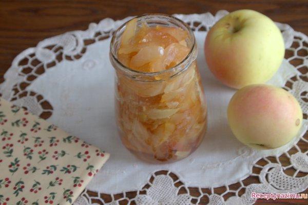 Яблочное варенье дольками янтарное рецепт с фото
